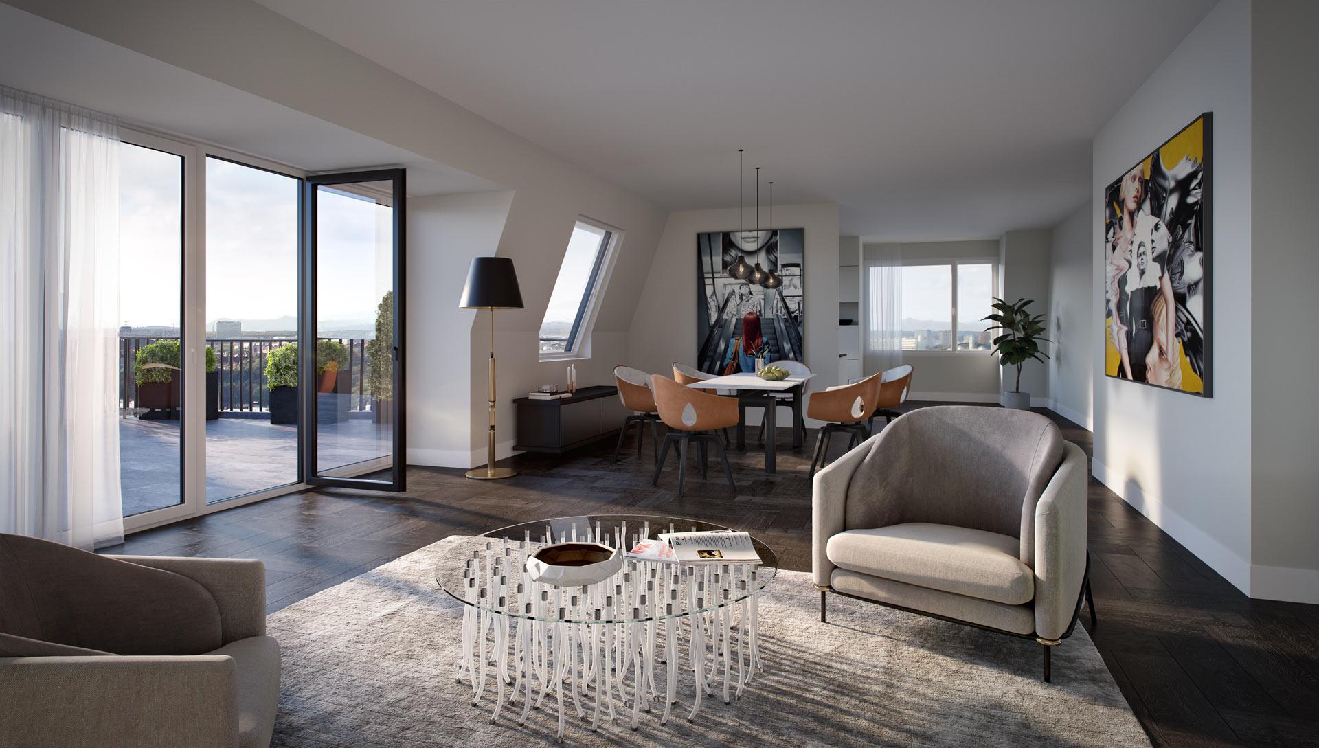 Innenvisualisierung - Bavaria Penthouses